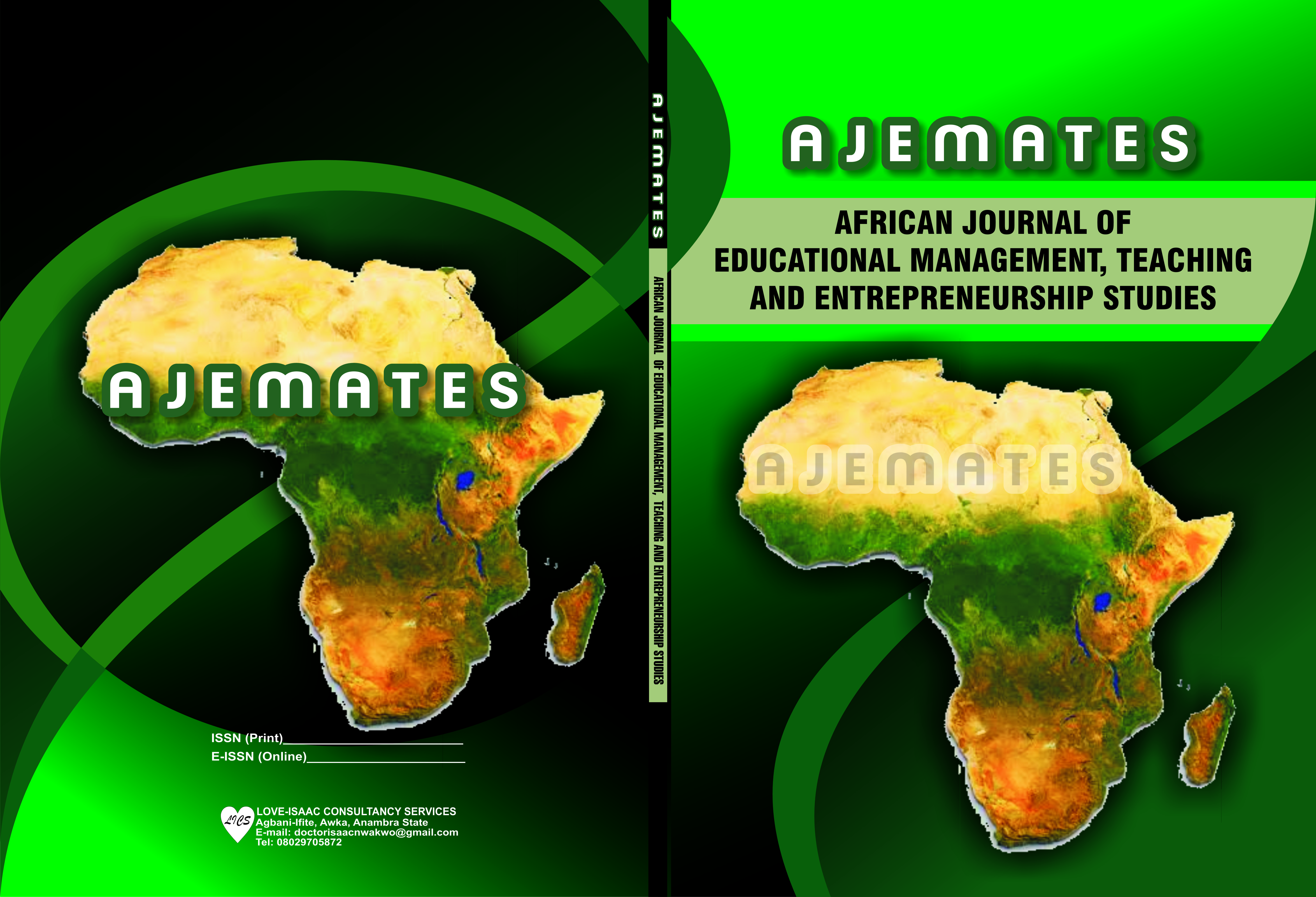 View Vol. 1 No. 1 (2020): African Journal of Educational Management, Teaching and Entrepreneurship Studies